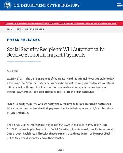 stimulus ss checks