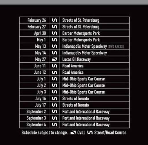 USF2000 2022 Schedule600
